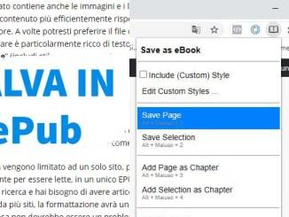 Come convertire una pagina web nel formato epub