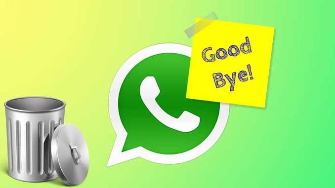 Come eliminare account di whatsapp