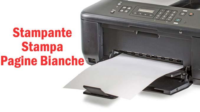 La stampante stampa pagine bianche su windows 10