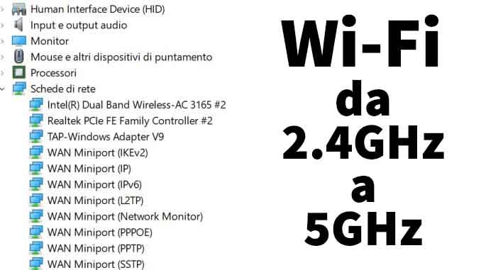 Come passare da un wifi a 2.4ghz a uno 5ghz su windows 10