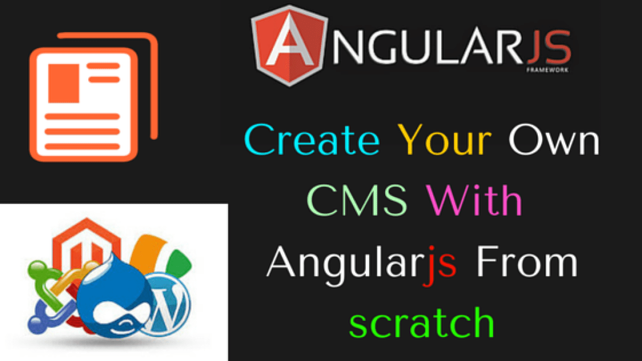 Create You own CMS with Angularjs From scratch | Dunebook