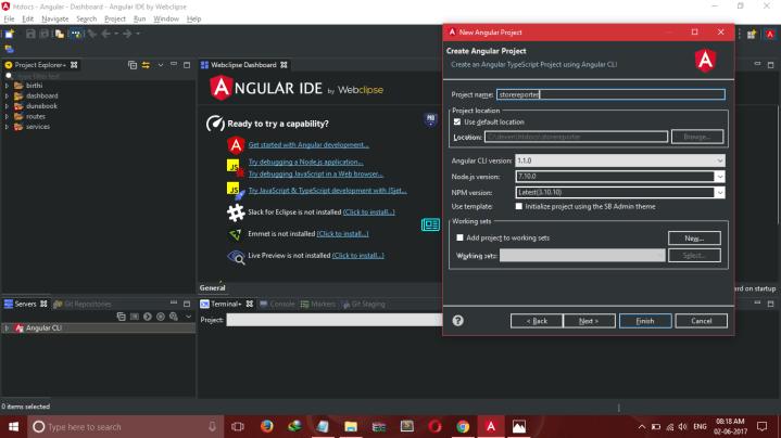 angular 4 project setip