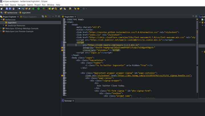 webclipse html ide