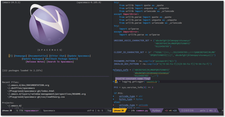 spacemacs mac text editor