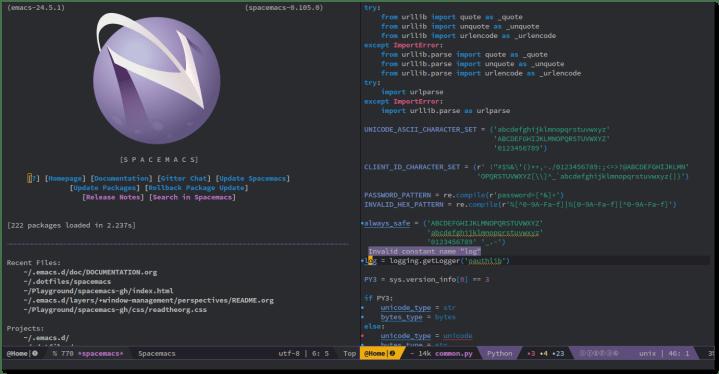 emacs python editor