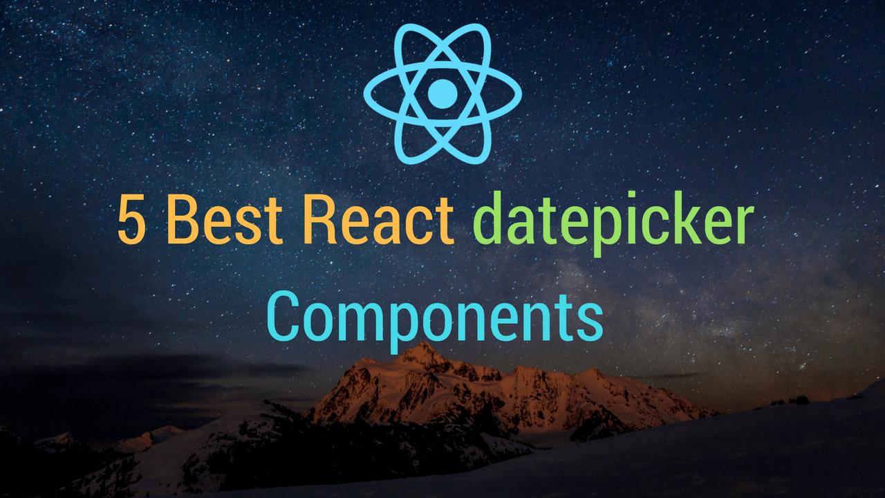 5 Best React datepicker Components | Dunebook