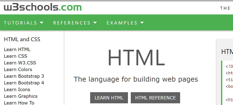 Html Tutorial From W3school Pdf