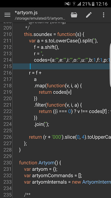 Android code editors
