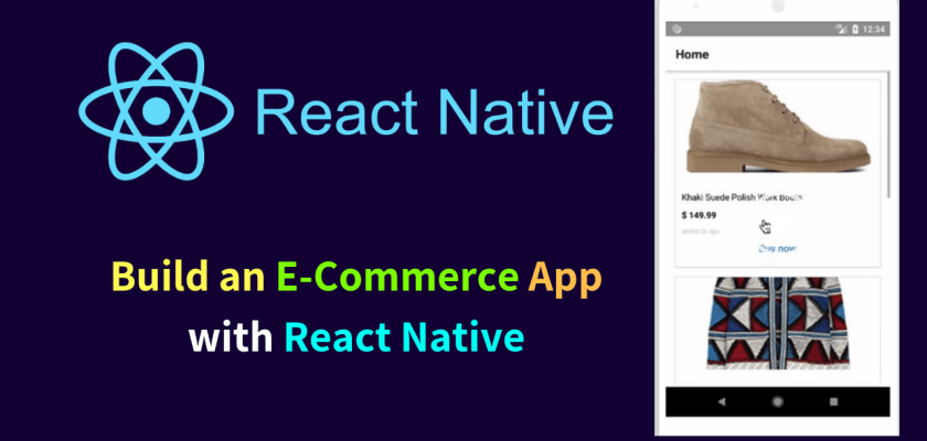 ecommerce app with react native