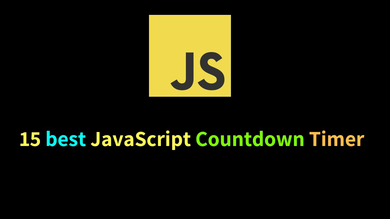 15 Best JavaScript Countdown Timer | Dunebook