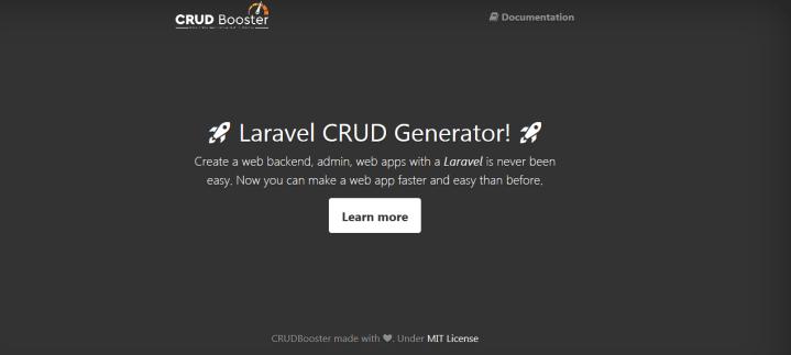 CRUD Booster Laravel admin panel