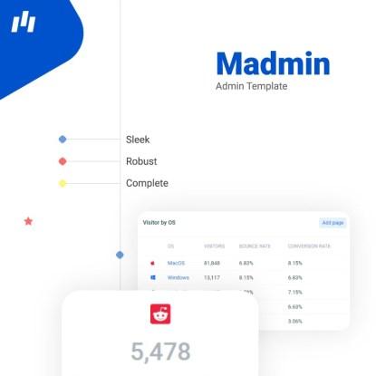 Madmin admin dashboard
