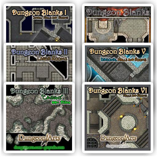 Dungeon Tile Bundle 6 Pack