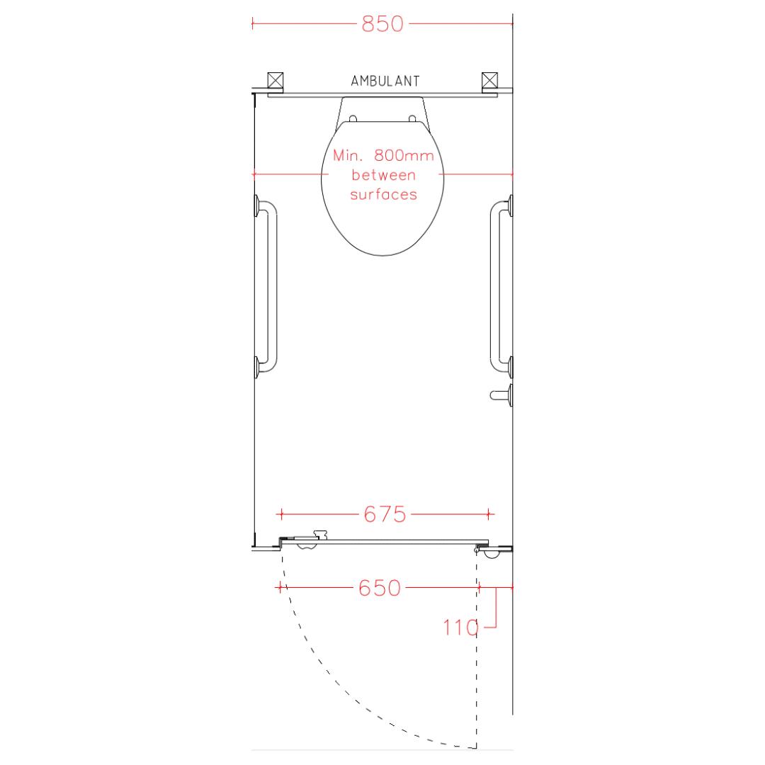 Standard Toilet Cubicle Sizes Guide Dunhams Washroom