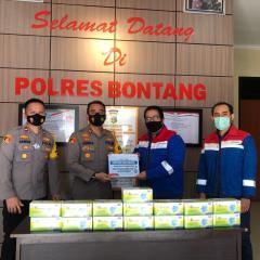 Pertagas Salurkan 5.000 Masker di Bontang