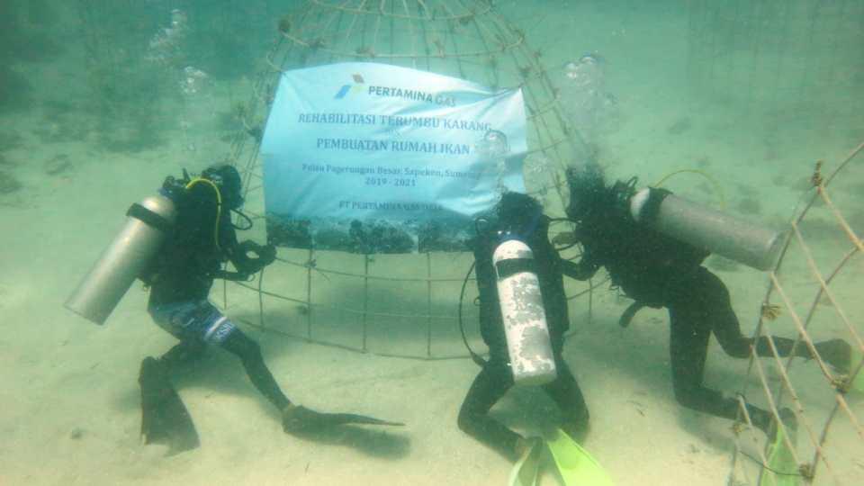 Pertagas Konservasi Terumbu Karang di Laut Madura