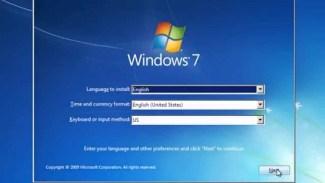 instal ulang windows 7