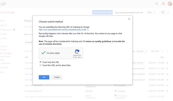 Cara Menggunakan Search Console
