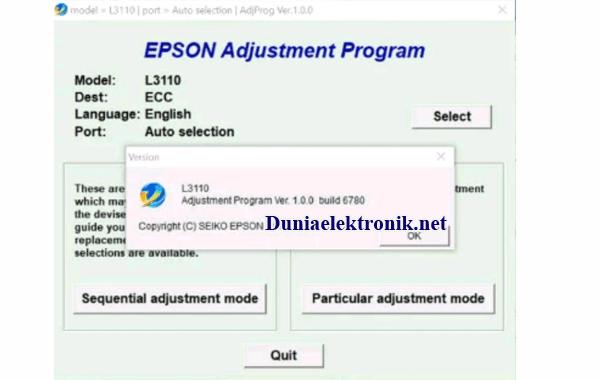 download resetter epson l3110 gratis tanpa password