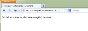 Cara Menambahkan komentar di HTML