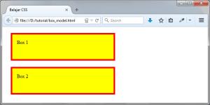 Contoh Penggunaan Konsep CSS Box Model