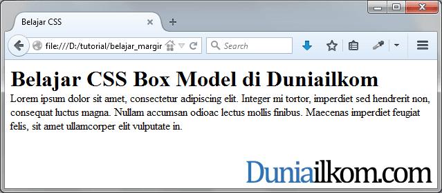 Menghapus margin bawaan web browser