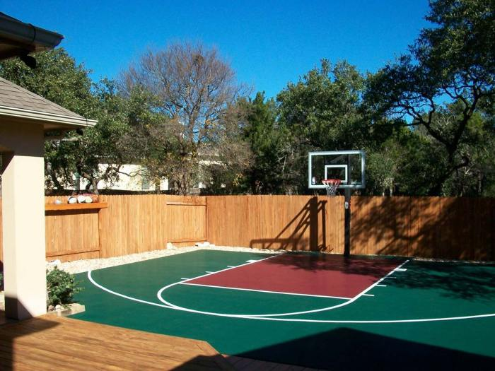 DunkStar backyard half-court
