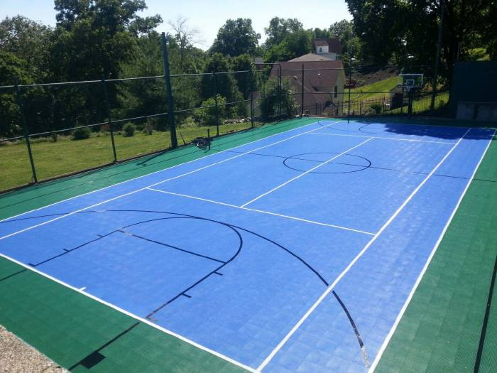 Evergreen and bright blue multi-court