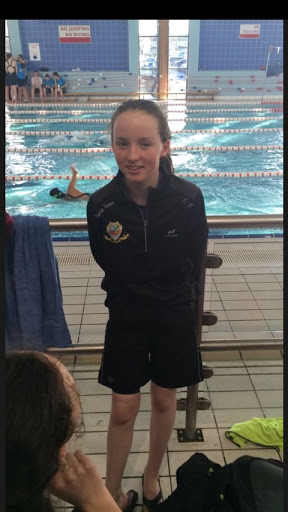Emma Kelly Flaskagh Dunmore recently represented Dunmore Community School in the Connacht final of the School's Swimming competition held  in Longford. Emma is a member of Tuam Swimming Club