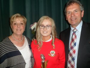 Kate Meehan wins the Music Award for her contribution to music in the school