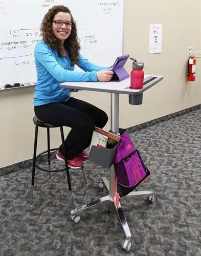 adjustable classroom stand desk