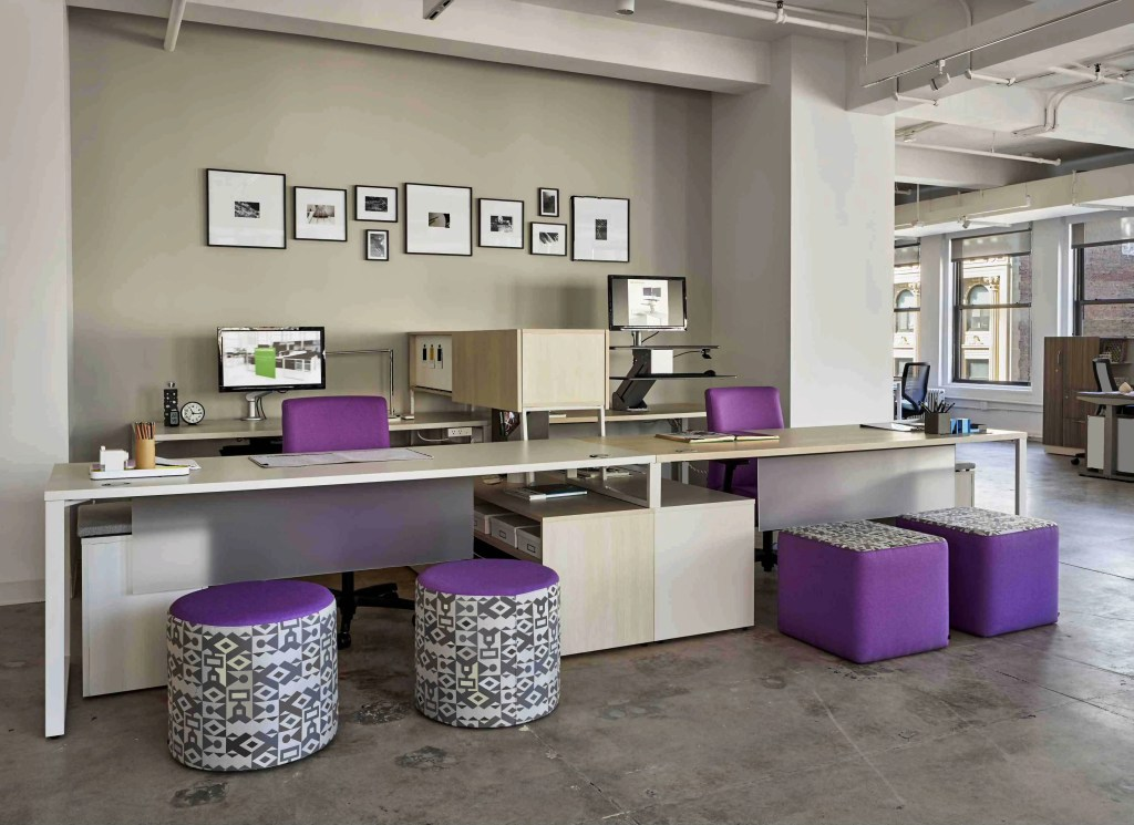 purple office furniture