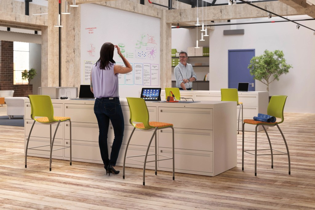 modern workspace sit-stand