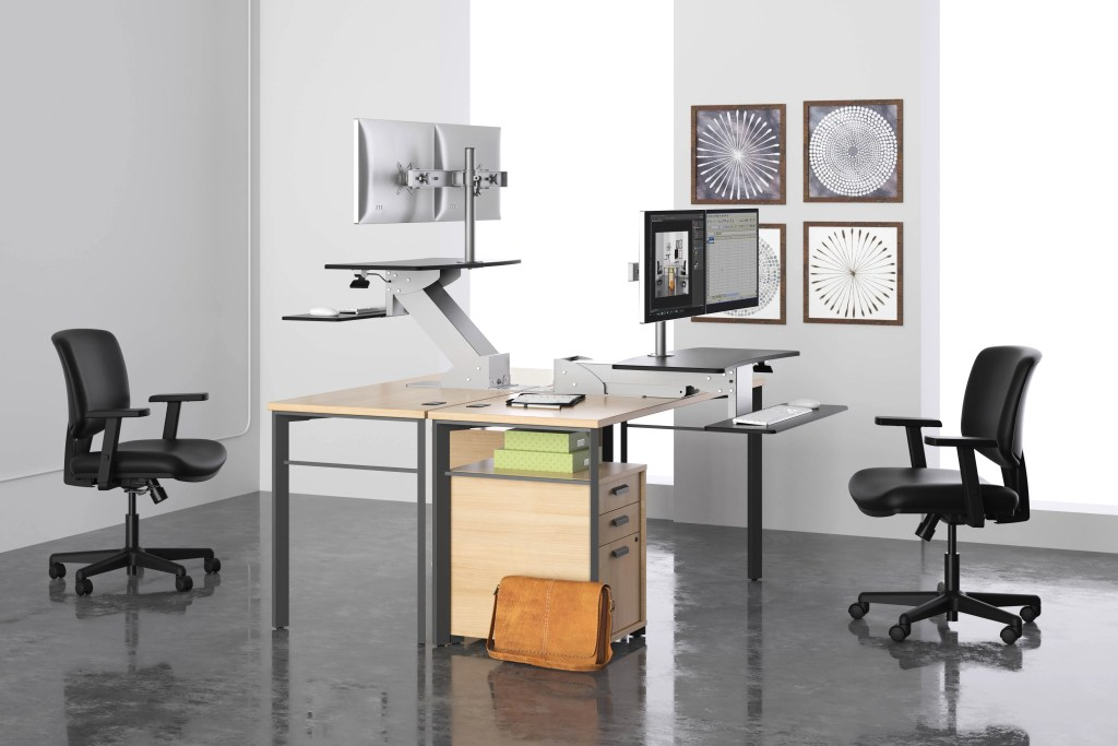 sit-stand office desk inspiration