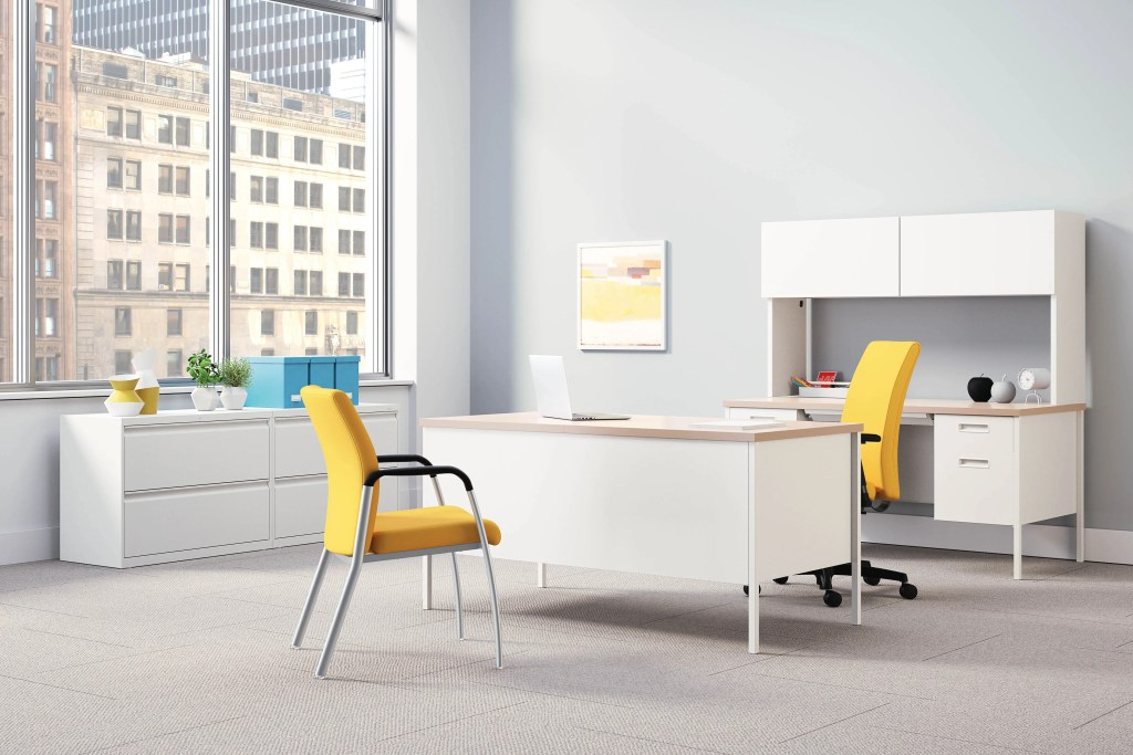 bright colorful office furniture