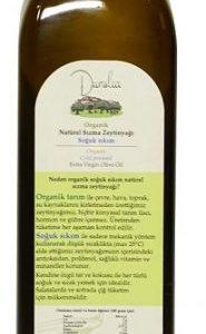 Dunolia organik zeytinyağı 500 ml şişe arka