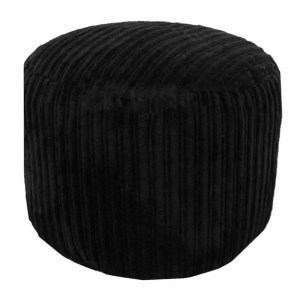 black chunky cord pouffe footstool