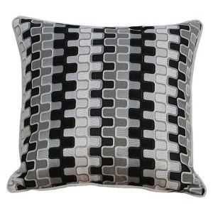 black geometric patterned scatter cushions covers