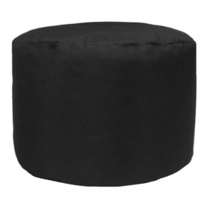 black water resistant outdoor footstool pouffe