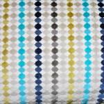 blue multi colour strip fabric cut to order