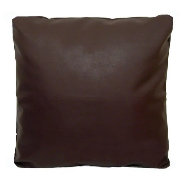 brown faux leather scatter cushion covers