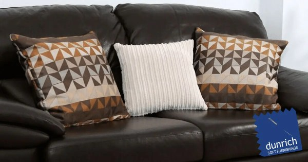 brown geometric patterned scatter cushions covers