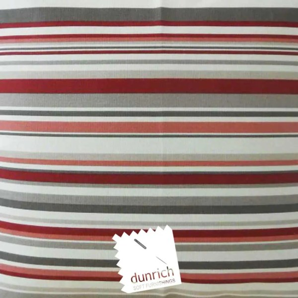 cherry red cotton striped goa fabric to order