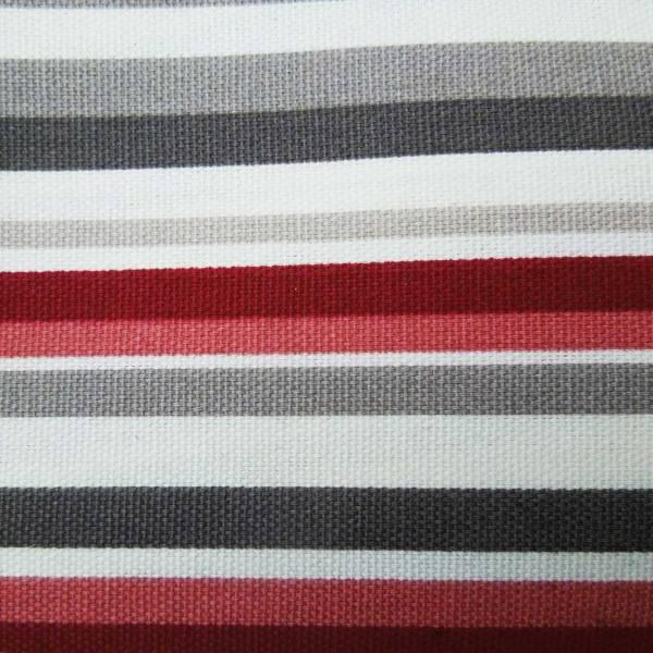 cherry red goa striped cotton fabric