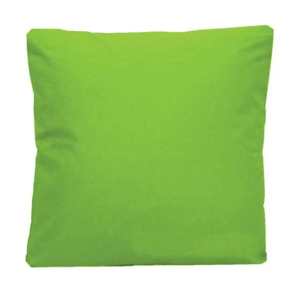 cotton drill cushion cushioncover lime green