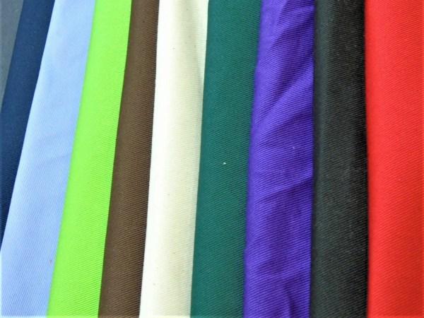 cotton drill cut fabric colours