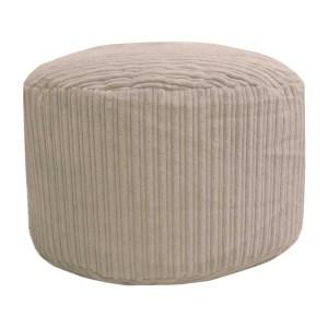cream chunky cord pouffe footstool