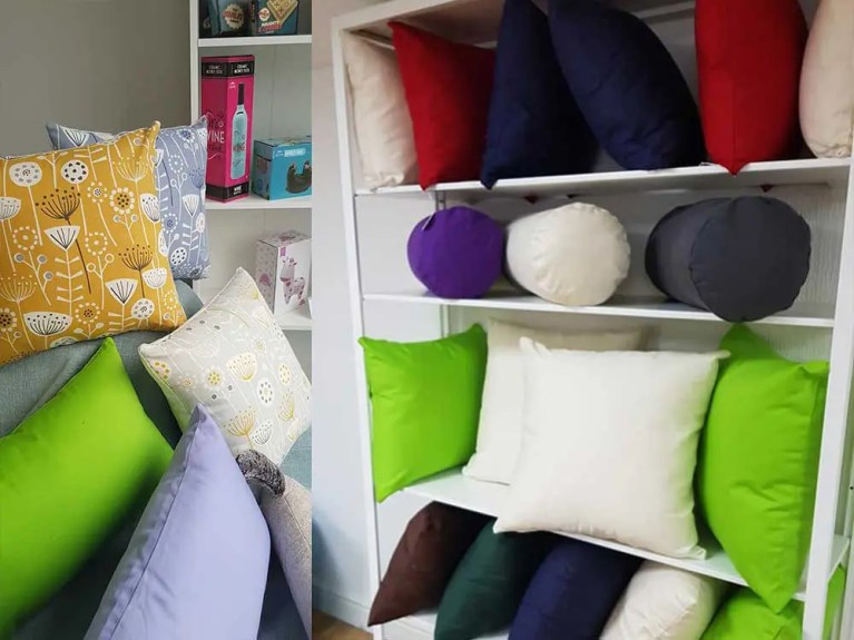 Dunrich retail shop cushions and cushion covers display