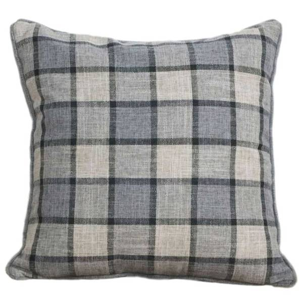 grey check pattern scatter cushion covers