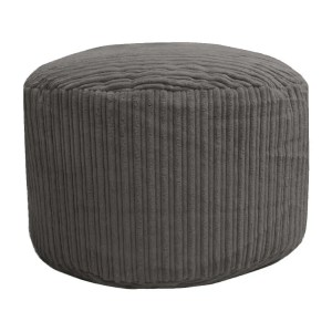 grey chunky cord pouffe footstool